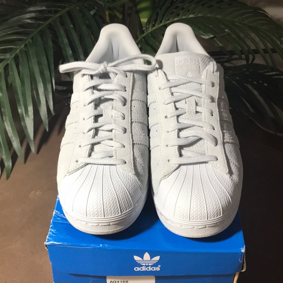 separation shoes c0e81 a7455 adidas Other - Light Blue Suede Adidas Superstar RT Size 9